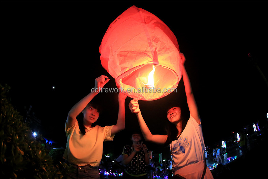 Chinese fire resistant no flame sky lanterns
