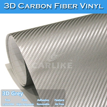 Air Channels 1.52*30M CARLIKE 3D Carbon Fiber Vinyl Car Paint Protective Film