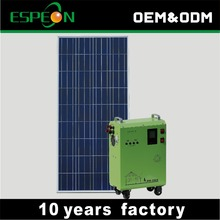 Home use portable green solar powered generator solar panels and battery