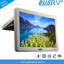 16:9 17inch 19 inch 23.6 inch bus roof mounted monitor with fixed/hydraulic/ceiling mount/turning assemble type optional