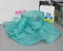 new fashion ladies part hats weeding Sinamay make church hats wholesale