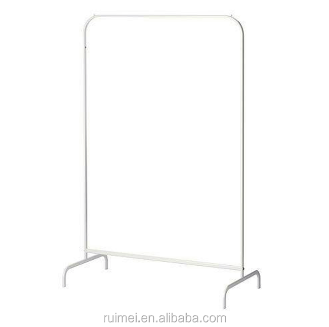 Metal White Rail Shop Rails Coat Garment Clothes display Stand