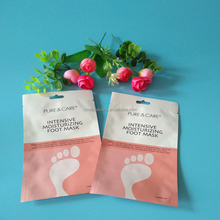 custom size plastic foot mask packaging bag with hole aluminum foil skincare packing bag