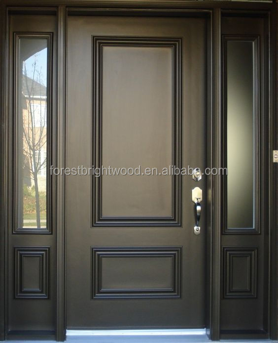 Exterior Captivating Black 2 Panel Front Entry Door Glass Inserts
