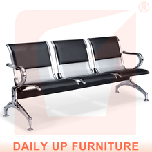 Cheap Beach Chairs with PU Padded Cushion Waiting Room Airport Chairs Prices High Quality Leather Hospital Chairs for Patients