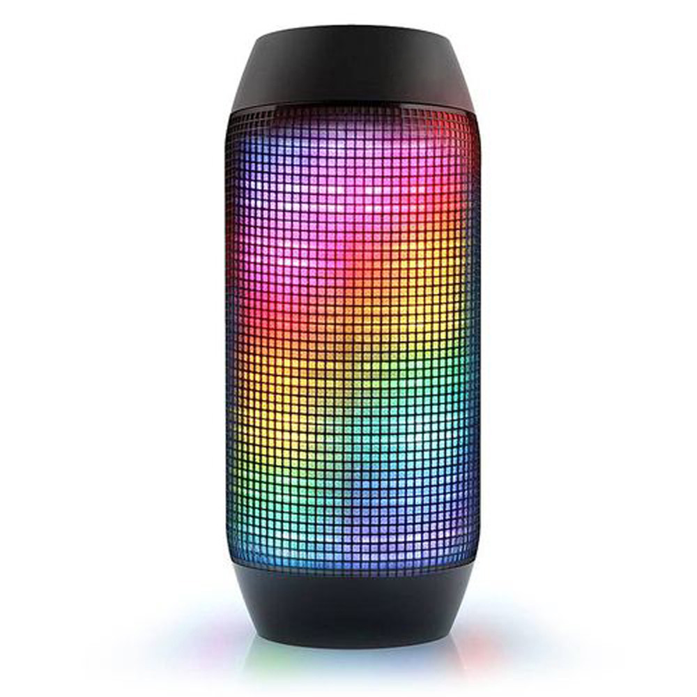2017 Wholesaler Outdoor pulse portable colorful led light wireless bluetooth <strong>speaker</strong> with TF card and FM radio for smart phone