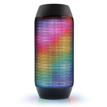 2017 Wholesaler Outdoor pulse portable colorful led light wireless bluetooth speaker with TF card and FM radio for smart phone