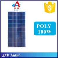 100W poly best price solar panel solar pv module solar cell