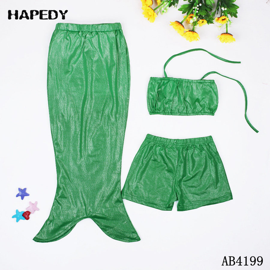 New Design 3 Pieces Fairy Mermaid Sets Little Girl Swimsuit
