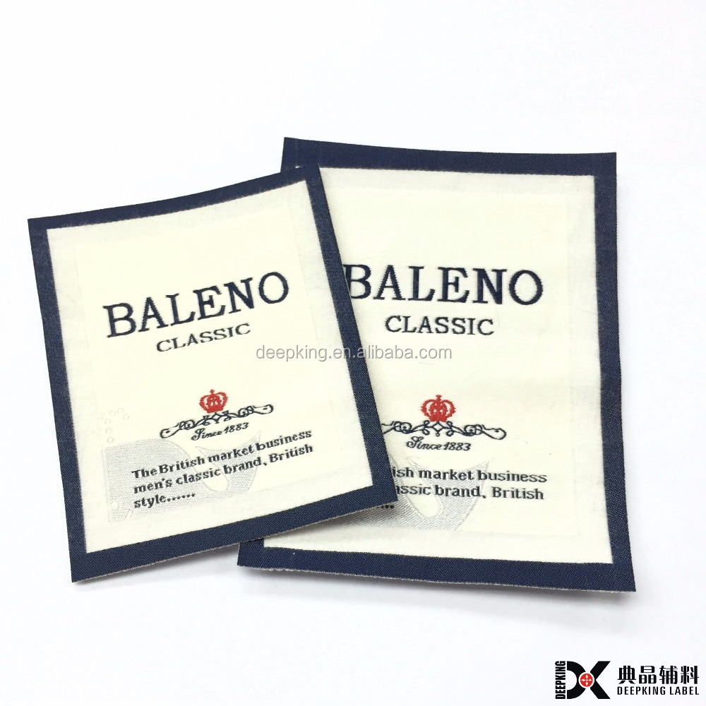 organic cotton clothing labels with logo woven label for garment