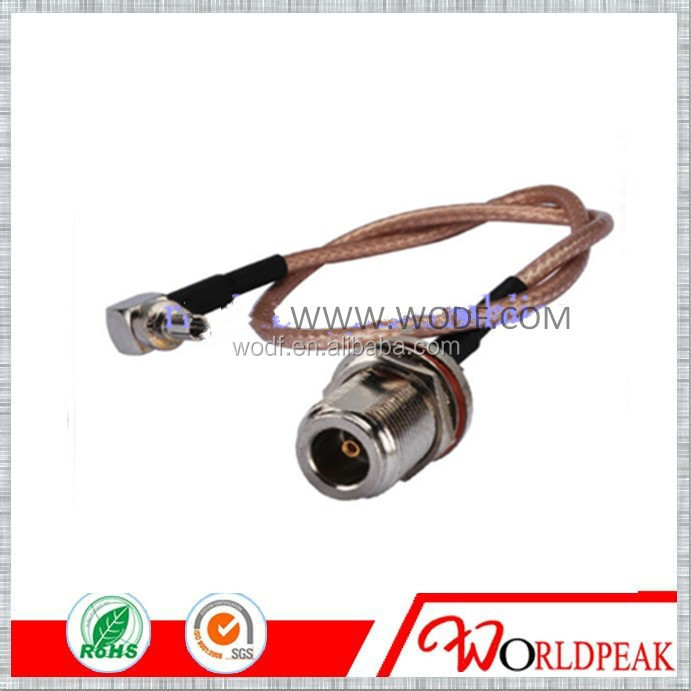 N female to CRC9 male RA pigtail cable RG316 RF JUMPER for huawei modem