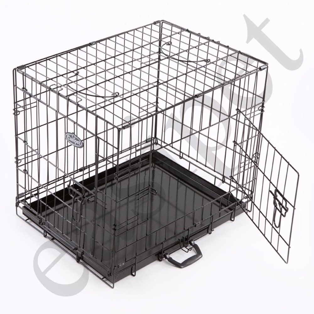 "36"" Dog Cage, Black Finish"