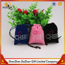 Hot Sale Personalized Logo Jewellery Pouch Small Velvet Bag