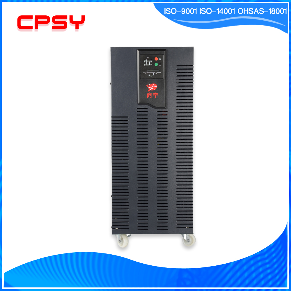 High frequency UPS 10kva/8kw online UPS single phase and smart shape UPS with 16pcs 12V9ah battery CPSY Shenzhen