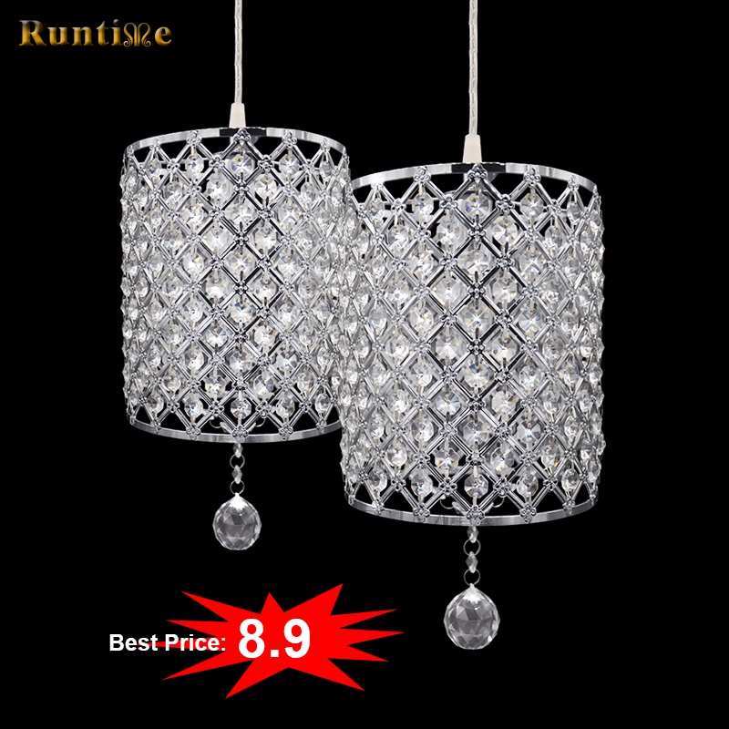 Hot Sale Good Price Small Metal Frame Crystal Beads Modern Pendant <strong>Light</strong>