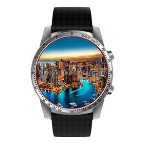 2017 Android 5.1 luxury smart watch,MTK6580 leather strap mens watch KW99 with GPS+WIFI+Heart Rate