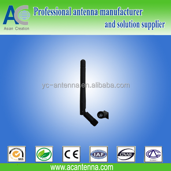 SMA male straight rotatable Rubber 4G LTE antenna for wifi modem