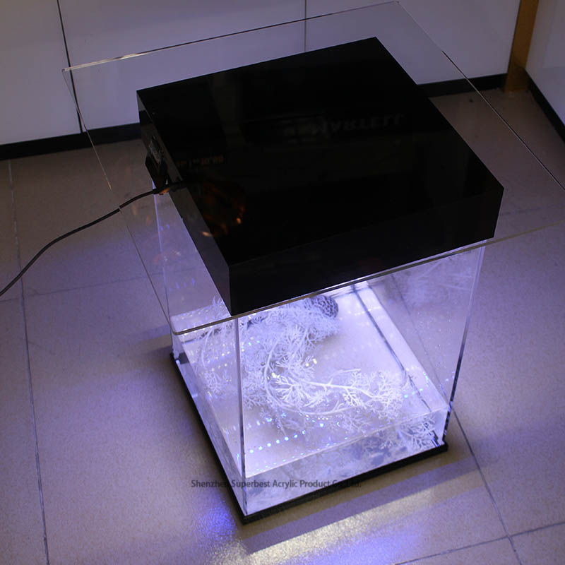 factory custom acrylic aquarium <strong>fish</strong> tank with Led light