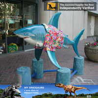 My-dino decorated artificial resin sharks animals figurine