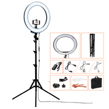 18inch camera photo video 5500k dimmable photography 240 led ring light kit with light stand 2 color filter for DSLR smartphone