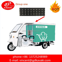 Alibaba delivery express Close Body Solar Panel Three Wheel Electric Tricycle Express Delivery For Cargo Vehicle For Sale