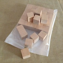 35pcs pack 1.5inch Blank Plain Wood Cube Stacking Blocks Children Game Cubes
