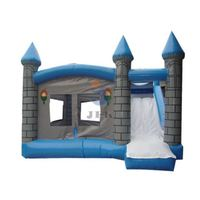Children Cartoon Inflatable Air Castle With Slide