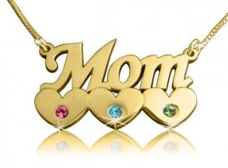 Mother's Love in Gold Style Name Necklace.jpg