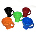 2017 new products silicone folding cup coffee cup foldable cup