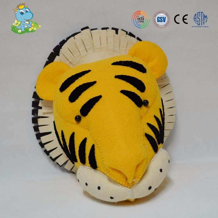 Most popular carton style big head plush tiger stuffed toy