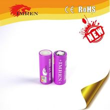 High drain IMREN 26650 5500mAh rechargeable battery 3.7v 60amp li ion cells continuous 30A discharge 26650