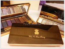 So beautiful Wei ni xiao xiong 9 colors golden diamond eye shadow palette