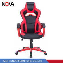 Modern comfortable red car seat gaming racing swivel computer office chair