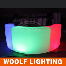 illuminated led round hotel bar counters