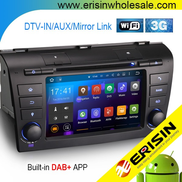 "Erisin ES3095Z 7"" Quad-Core 2 Din Android 5.1 Car Audio System for Mazda3 2007"
