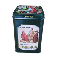 Square Tea Tin Box With Custom Labeling