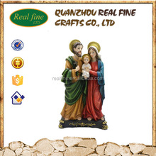 2016 Real Fine Factory custom made hot new product polyresin decoration sale of holy family statue