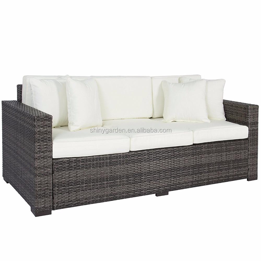 Patio esterno di lusso comfort in rattan di vimini divano - Divano in vimini ...