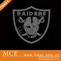 Raiders heat Korean rhinestone transfer motif for t shirts