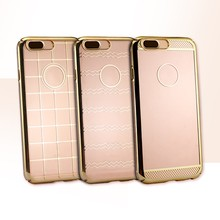 Luxury hard gold assesories phone ultra thin pc clear phone case for iphone 7plus