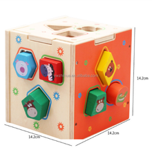 The factory sells children's educational cognitive geometric shapes wooden matching blocks toys