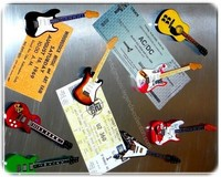 Music Legends Collection mini guitars magnets hand made & hand airbrushed