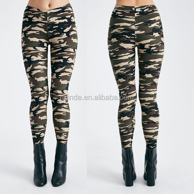 OEM Active Pants / Shorts / Tops Manufacturer Brushed Camo Printed Comfy Leggings Pants Tights Woman Leggings Sexy For Female