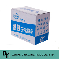 High quality of six ling cylindrical dustless chalk for school