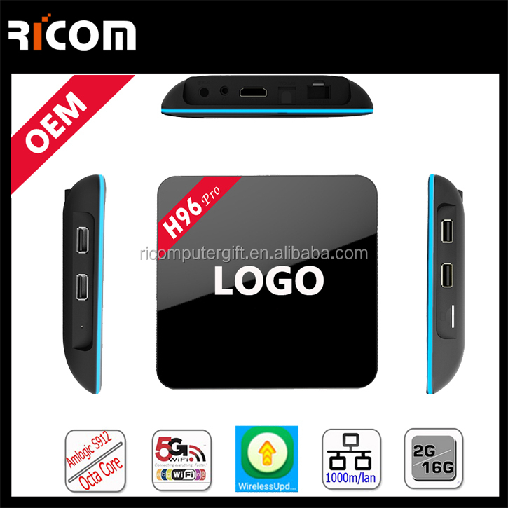 Amlogic S912 Android 6.0 marshmallow tv box support 4K 2GB DDR3 16GB EMMC Flash smart tv box H96 Pro