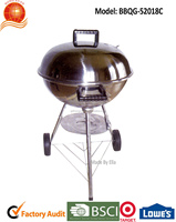 "BBQ grill type/18"" stainless steel bbq apple grill/charcoal grill/outdoor camping item BBQG-52018C"