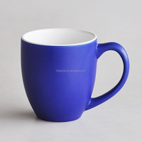 Stoneware matt coffee mug with soft touch effect in high grade