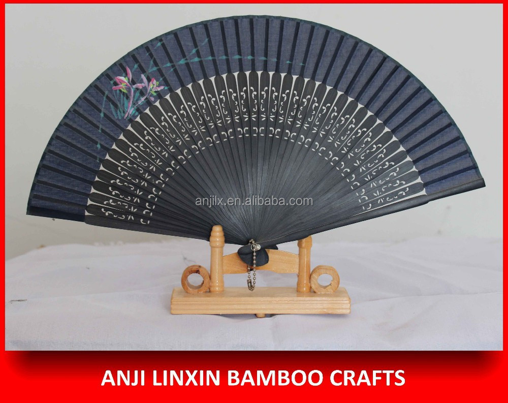 High quality gift crafts bamboo hand fan for business gift