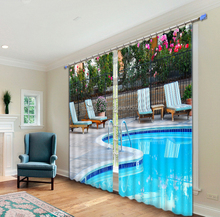 Latest garden swimming pool designs window curtains for home decor