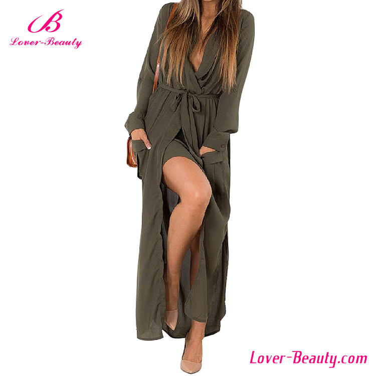 Big stock long sleeve chiffon one piece muslim women long dress